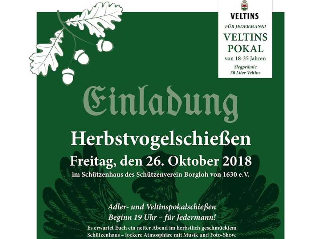 Herbstvogelschießen in Borgloh 2018